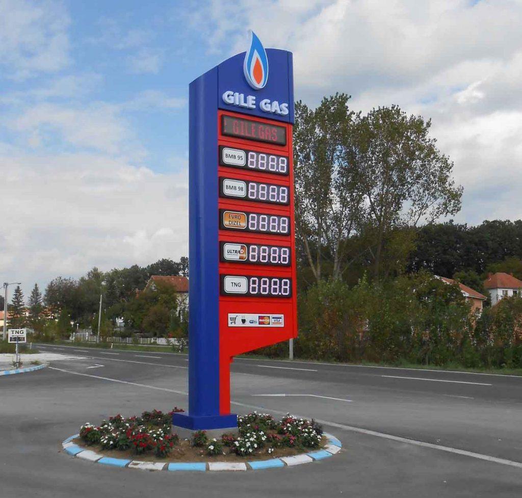 led displej za totem za benzinske pumpe